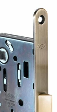 AGB Mediana Evolution замок бесшумный для межкомнатных дверей —  античная бронза