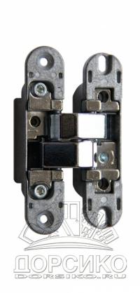 Петли скрытой установки для межкомнатных дверей Morelli HH-2 хром полированный