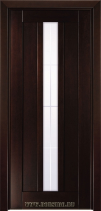 Темная тонированная дверь из массива бука Лермонтов от Блюм Индастри