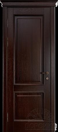 """Орлеан — межкомнатная дверь из дуба массив """"Мореный дуб"""""""