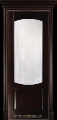 Межкомнатная дверь из массива бука Ремарк - Грецкий Орех