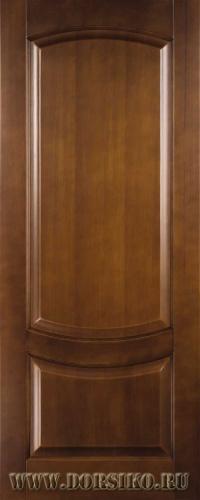 Деревянная дверь из массива бука Ремарк в цвете Светлый дуб без стекла Блюм Индастри