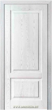 Дверь из ясеня в классическом стиле с двумя филенками или стеклом Рубенс