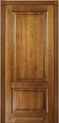 Классическая дверь из ясеня с двумя филенками в очаровательном цвете золотой орех - Рубенс