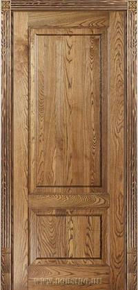 Классическая деревянная дверь из ясеня массива в легендарной тонировке рустик - Рубенс