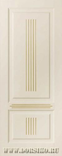 Дверь деревянная глухая из массива бука Вагнер BLUM Industry бежевая эмаль с патиной карамель
