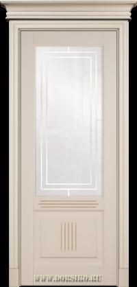 Окрашенная эмалью буковая дверь из массива в СПб