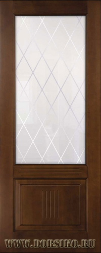 Глухая филенчатая межкомнатная дверь из массива бука Вагнер светлый дуб Блюм Индастри