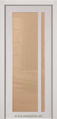 Серая, глянцевая эмалированная межкомнатная дверь из массива бука Альбани