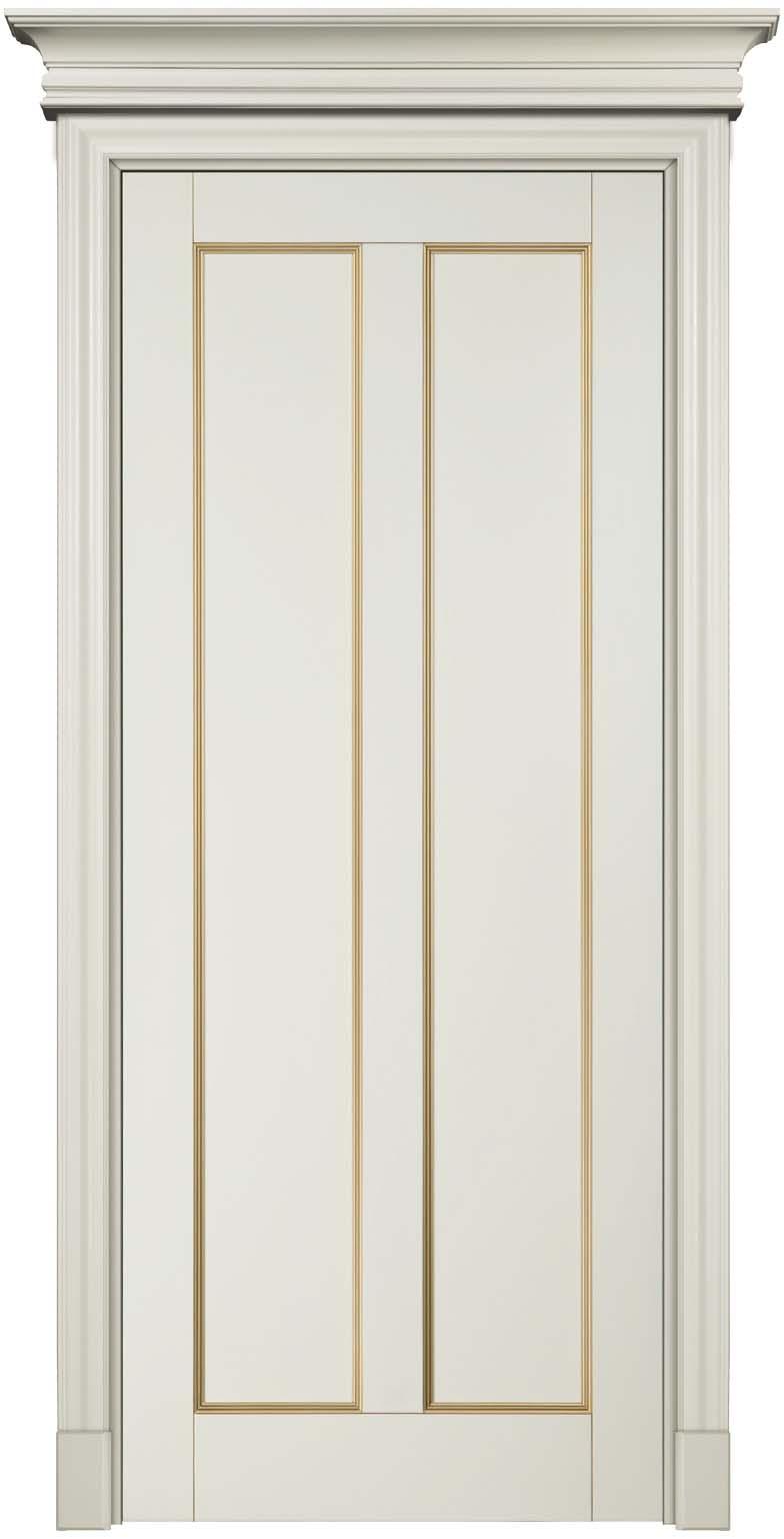 Амати - межкомнатная деревянная дверь массив бука, крашенная белой эмалью с патиной