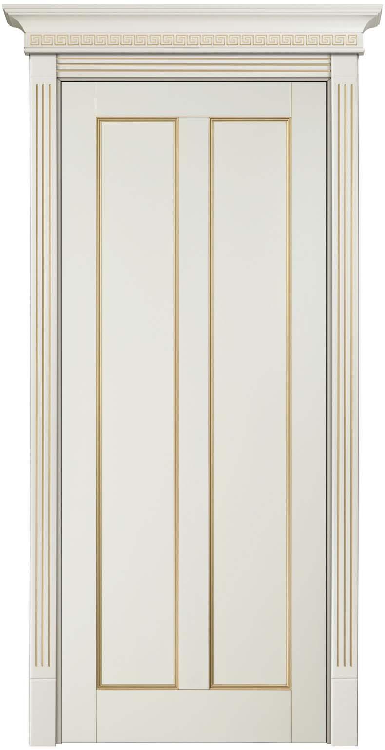 Крашенная эмалью дверь массив бука с золотой патиной Амати