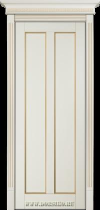 Крашенная буковая дверь из массива дерева Амати - Молоко