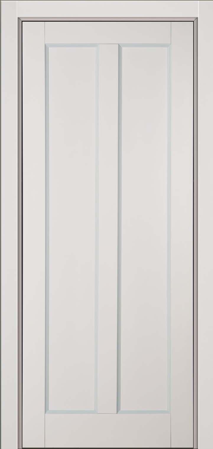 Крашенная эмалью светло-серая дверь из натурального бука массив, модель Амати
