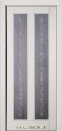 Крашенная дверь из массива натурального бука со стеклом - Амати от Блюм Индастри