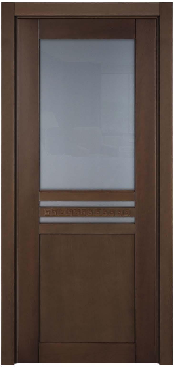 Остекленное дверное полотно и деревянного массива бука Данте Сахара
