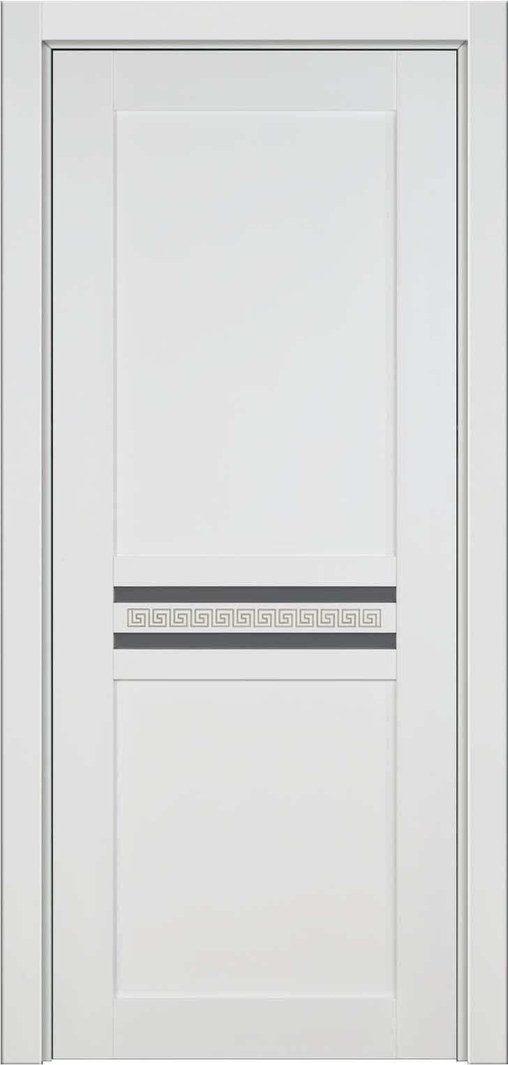Данте - белая с фисташковой патиной крашенная дверь из массива, бук