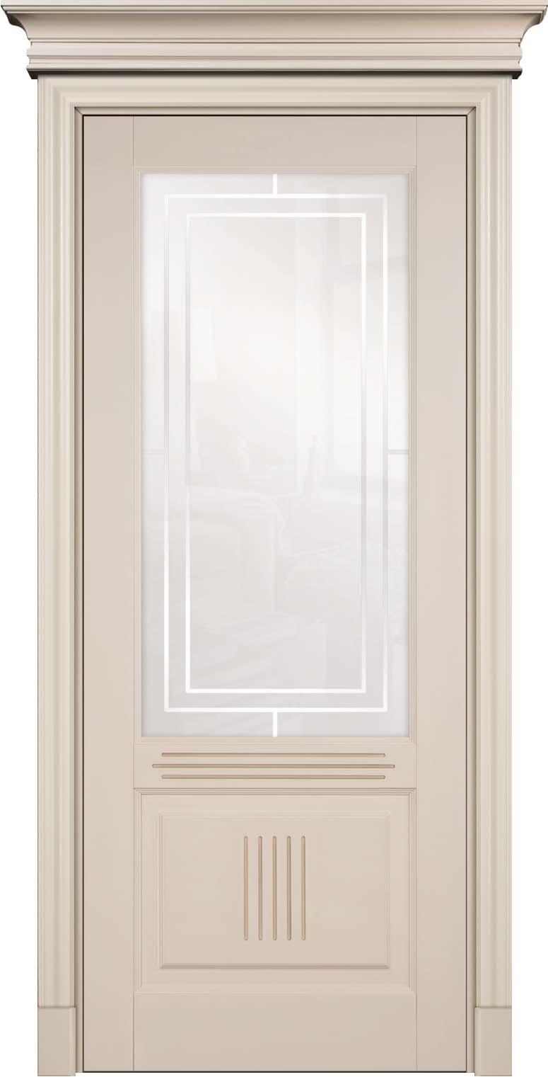 Окрашенная эмалью Hesse розовая дверь из букового массива Державин российского производителя Кавказский Лес