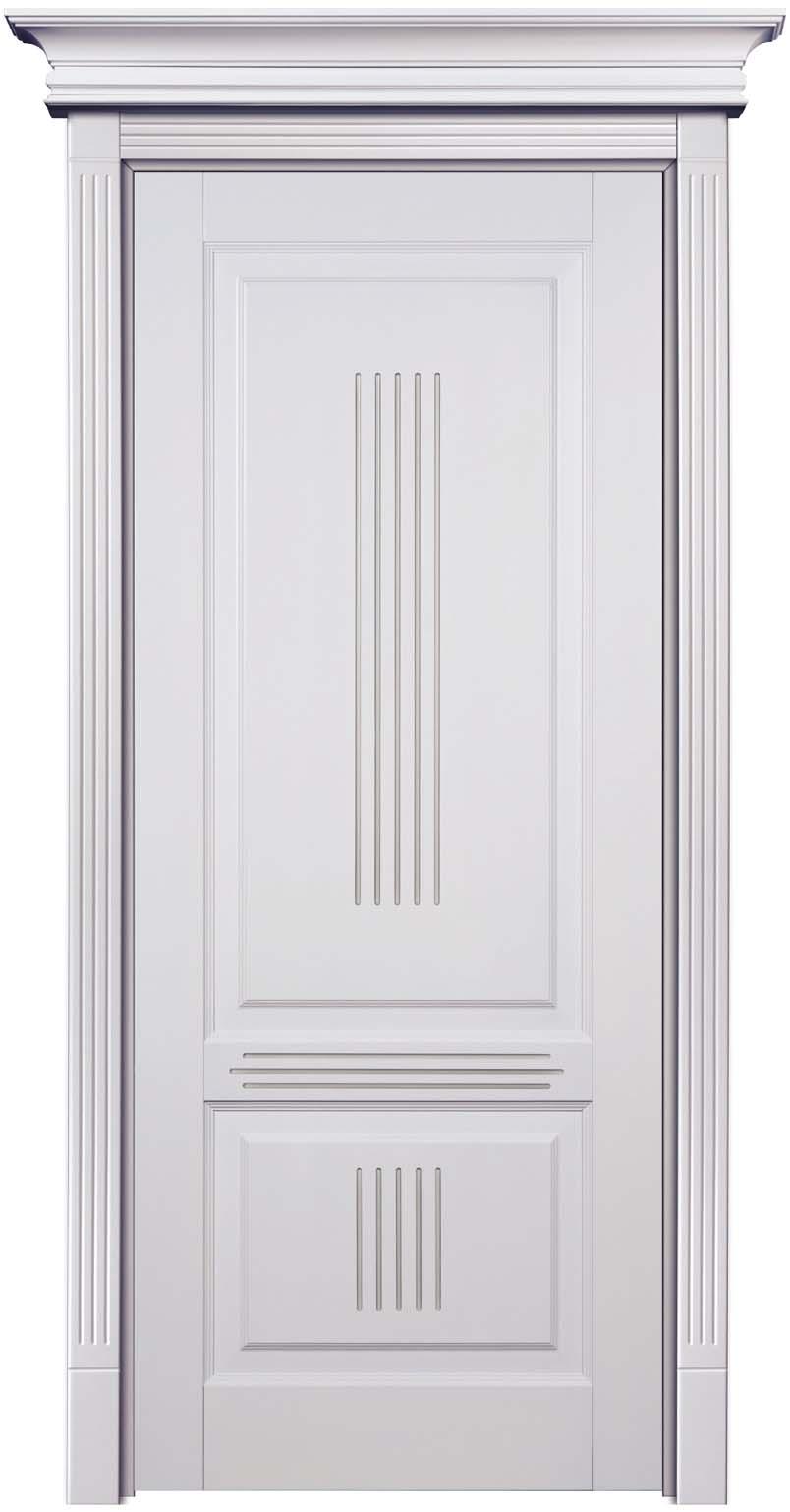 Филенчатая глухая дверь из 100% массива кавказского бука - Державин, Лен и патинирование Иней