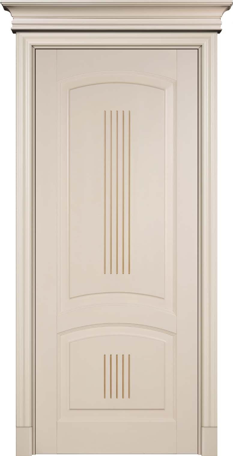"""Буковая дверь - 100% массив дерева, окрашенная немецкой эмалью в цвет """"Бискват"""" с отделкой патиной Мокко"""