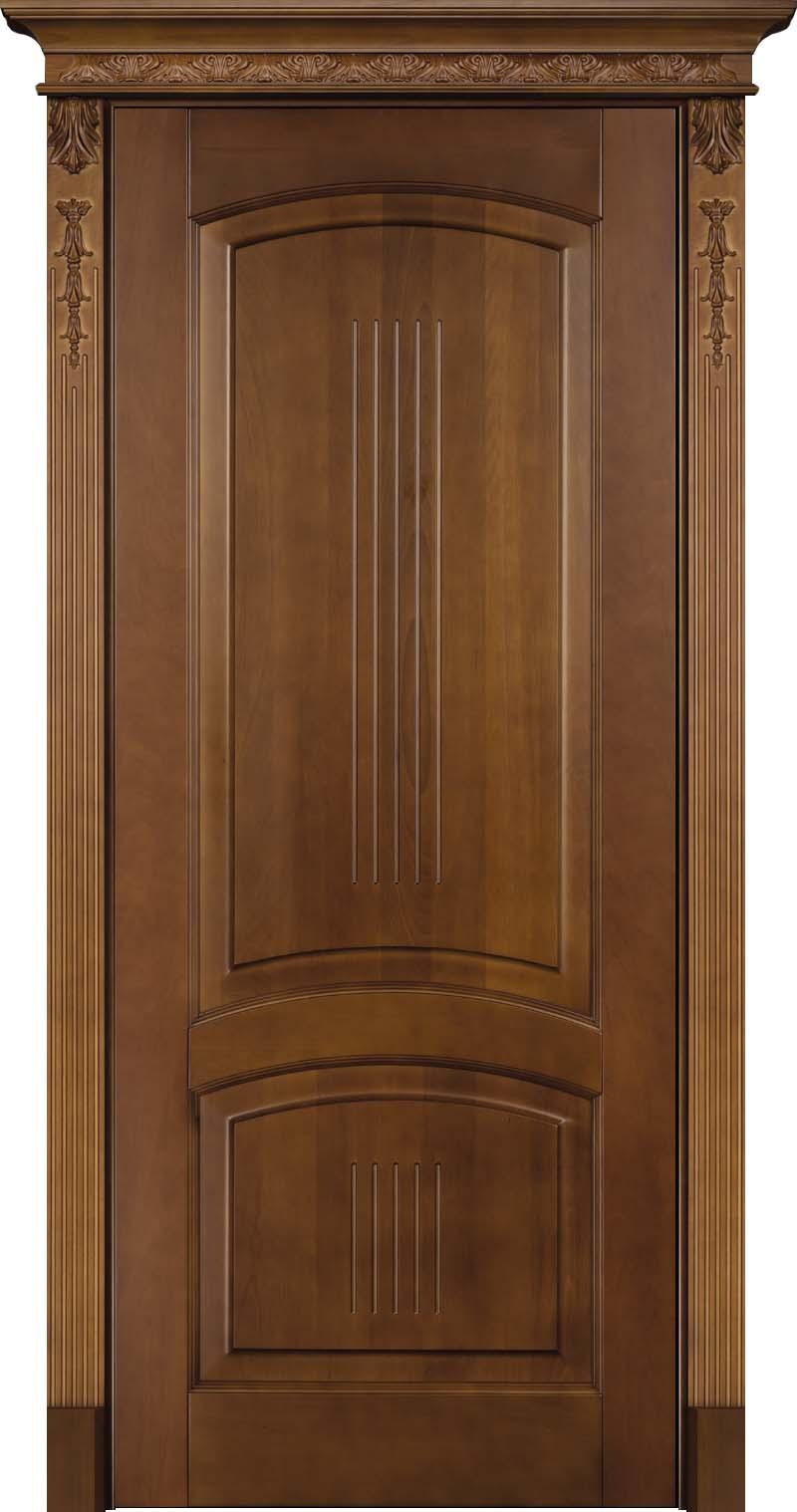 Суворов Светлый дуб - дверь из массива бука с карнизом и резными балясинами - Италия
