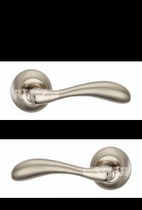 """Ручка дверная """"Розаро"""", никель матовый / никель блестящий"""