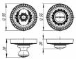 WC BOLT Античное серебро Armadillo — Сантехническая завертка