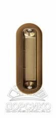 Планка ответная Minimal для дверных замков серии Mediana Polaris AGB — бронза антик