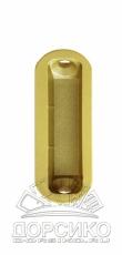 Планка ответная Minimal для дверных замков серии Mediana Polaris AGB — латунь матовая