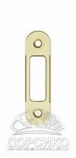 Ответная планка для дверных замков AGB серии Mediana Polaris и Evolution — латунь матовая