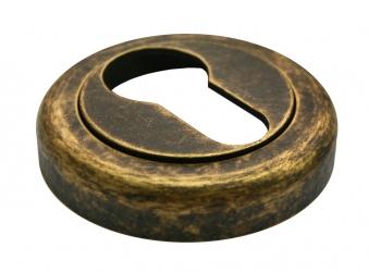 Латунная межкомнатная ручка с керамической вставкой CERAMICA старинная бронза Luxury Morelli