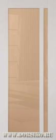 Дверь межкомнатная из бука Альбани светло-серая глянцевая эмаль со стеклом BLUM Industry