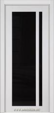 Межкомнатная крашенная дверь из бука Альбани белая эмаль глянец со стеклом Блюм Индастри