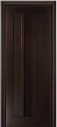 Лермонтов - межкомнатная дверь из бука массив - Грецкий орех (темная)