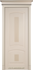 Межкомнатная буковая дверь Бетховен крашенная эмалью Бисквит с Мокко Блюм Индастри
