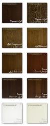 Цветовые варианты отделки дверей Брянский Лес