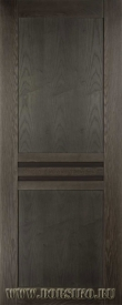Современная межкомнатная дверь из массива дерева ясеня Данте Blum Industry в цвете Графит