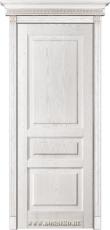 Межкомнатная дверь из массива с глухими филенками Дюма Белый ясень Блюм Индастри