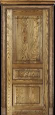Межкомнатная дверь из массива с разбивкой на три филенки Дюма Рустик