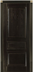 Черная глухая дверь деревянная из массива ясеня с золотой патиной Дюма Блюм Индастри