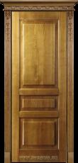 Межкомнатная ясеневая дверь из 100% массива без стекла Дюма Золотой орех Блюм Индастри