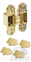 Золотые петли скрытые для межкомнатных дверей AGB ECLIPSE Италия с накладками