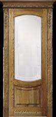 Массивная с подчёркнутыми древесными узорами дверь из ясеня Гёте Рустик Blum Industry