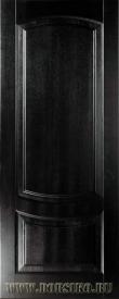 Деревянная межкомнатная дверь из ясеневого массива Гете Шервуд и стекло Blum Industry