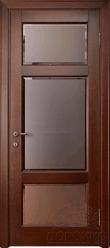 """Кама — дверь массив с остеклением - """"Орех"""""""