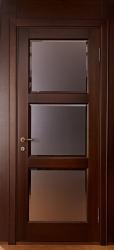 Двери ольховые - Камея со стеклом в СПб