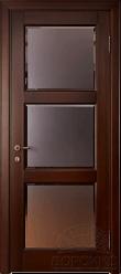 Камея — остекленная дверь из переклеенного массива дерева