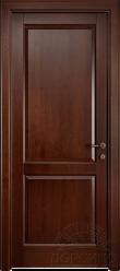 """Кантри — дверь из массива ольхи с тонировкой в """"Красное дерево"""""""
