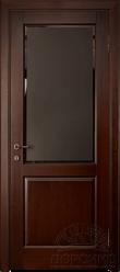 Кантри — дверь из ольхи со стеклом