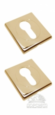Специальная квадратная накладка на цилиндр дверного замка LUXURY золото