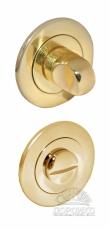 Сантехническая круглая завертка золотого цвета для межкомнатных ручек серии Luxury